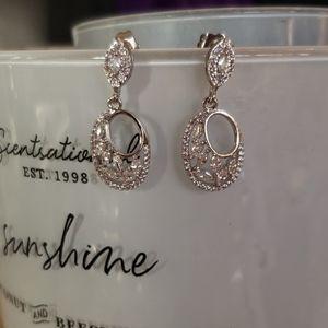 18K GF Fancy cz earrings